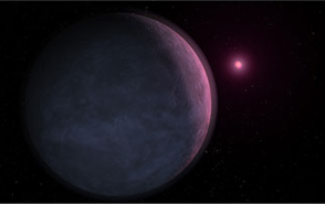 Artist's conception of the newly discovered planet MOA-2007-BLG-192Lb orbiting a brown dwarf star. Credit: NASA's Exoplanet Exploration Program